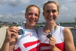 Frida Sanggaard Nielsen og Ida Pedersen med sølv fra junior VM 2016